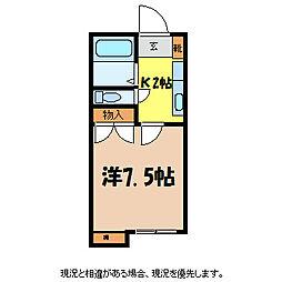白樺荘5号[2階]の間取り