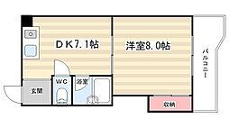 シャトー庵[4階]の間取り