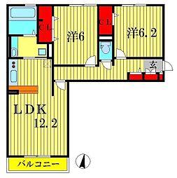 コンフォールコート[2階]の間取り