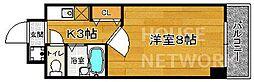 京都府京都市北区小山元町の賃貸マンションの間取り
