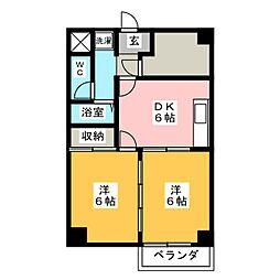 レジデンス光和105[2階]の間取り