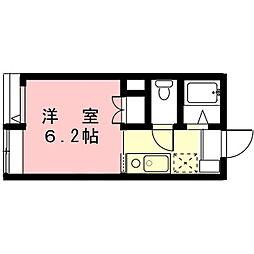 岐阜県瑞穂市穂積の賃貸アパートの間取り