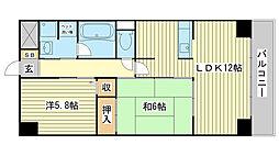 高岡中村コーポパートⅡ[9階]の間取り