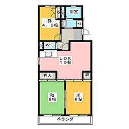 リバーサイド富士[2階]の間取り
