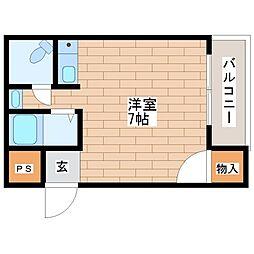 大阪府大阪市平野区平野市町1丁目の賃貸マンションの間取り