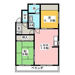 レジデンス カトウ[4階]の間取り