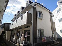 岡山県岡山市北区鹿田本町の賃貸アパートの外観