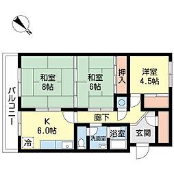 桜ケ丘ハイツ[103号室]の間取り
