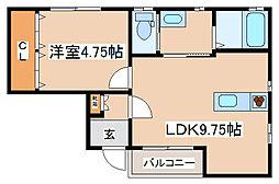 兵庫県神戸市兵庫区小松通3丁目の賃貸アパートの間取り