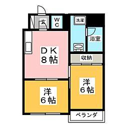 仙台ニュースカイマンション2号棟[8階]の間取り