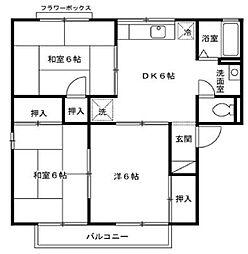 ア−バンライフ赤木[B102号室]の間取り