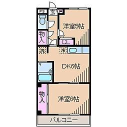 神奈川県川崎市中原区井田中ノ町の賃貸マンションの間取り