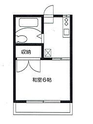 第3笹山ハイツ[202号室]の間取り