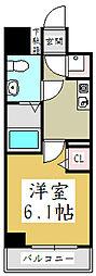 Fフラット並木[8階]の間取り