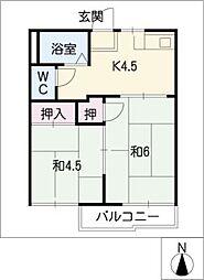 フォーブル渋谷B[2階]の間取り