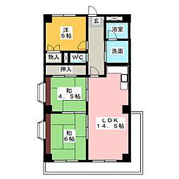 ヤシロアーバンスクエアー[4階]の間取り