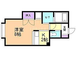 キャタレクト大瀧コーポII 1階1Kの間取り