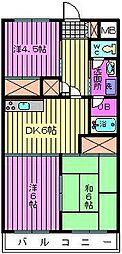 渋谷コート2号館[301号室]の間取り