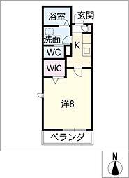 タウンコート清住[2階]の間取り