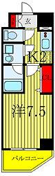 JR埼京線 北赤羽駅 徒歩5分の賃貸マンション 3階1Kの間取り