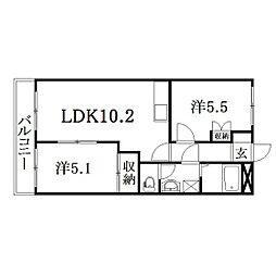 静岡県浜松市西区坪井町の賃貸アパートの間取り