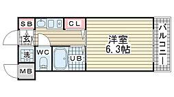 エステムコート神戸ハーバーランド前II[5階]の間取り
