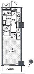 東京メトロ有楽町線 辰巳駅 徒歩9分の賃貸マンション 1階1Kの間取り