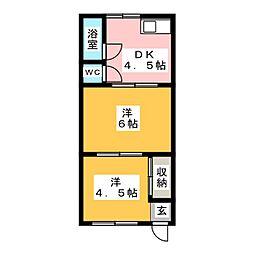 ハイツみすず荘[2階]の間取り
