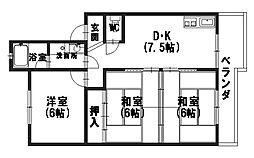 レジデンス黒田[103号室]の間取り