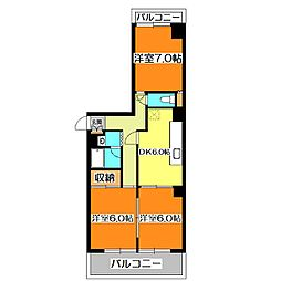 メゾンアイボリー[2階]の間取り