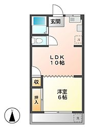 愛知県名古屋市昭和区鶴舞3丁目の賃貸マンションの間取り