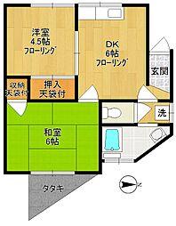 原島ハイツA[101号室]の間取り