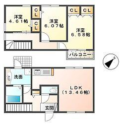 [テラスハウス] 兵庫県神戸市垂水区向陽3丁目 の賃貸【/】の間取り