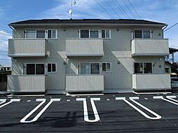 群馬県前橋市天川大島町の賃貸アパートの外観