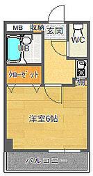 ベルビューレ千里山壱番館[1階]の間取り