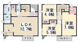 [テラスハウス] 兵庫県川西市向陽台1丁目 の賃貸【/】の間取り