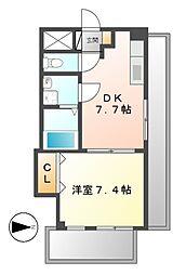 CLAIR HEIWA クレールヘイワ[5階]の間取り