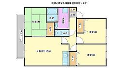 兵庫県加古川市尾上町養田209丁目の賃貸アパートの間取り