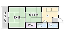 鶴見ハイツ(横堤4丁目)[307号室]の間取り