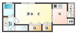 アクアカデーレ守口[1階]の間取り