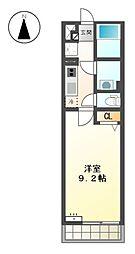 愛知県名古屋市北区平安2丁目の賃貸マンションの間取り