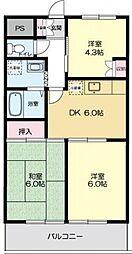 ウィスタリアマンション[2階]の間取り