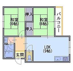 プリヴュイクシマ[1階]の間取り