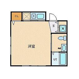 Y'sビル 4階ワンルームの間取り
