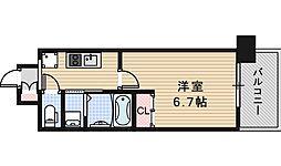 アービングNeo平野駅前 2階1Kの間取り