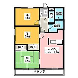 パークサイドヒロ[1階]の間取り