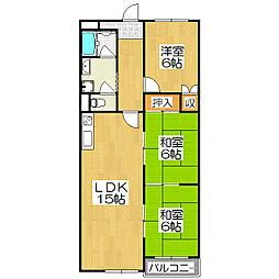 インペリアル京都[2階]の間取り