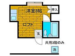 ハウスナチュラル[3階]の間取り