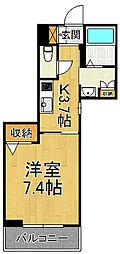 (仮称)SHM尼崎市今福 3階1Kの間取り