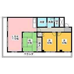 ユウチマンション[2階]の間取り